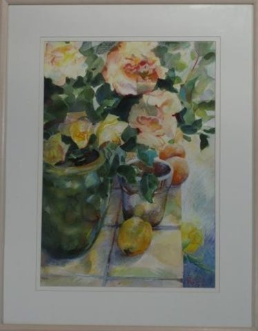 The terrace roses
