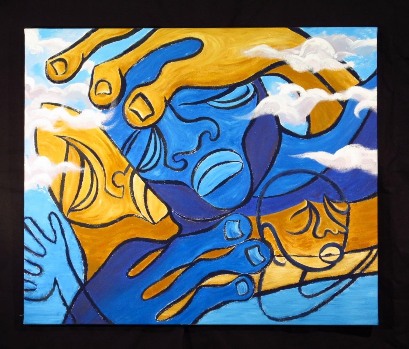 hands over sea