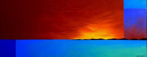 Sun Rise over islands