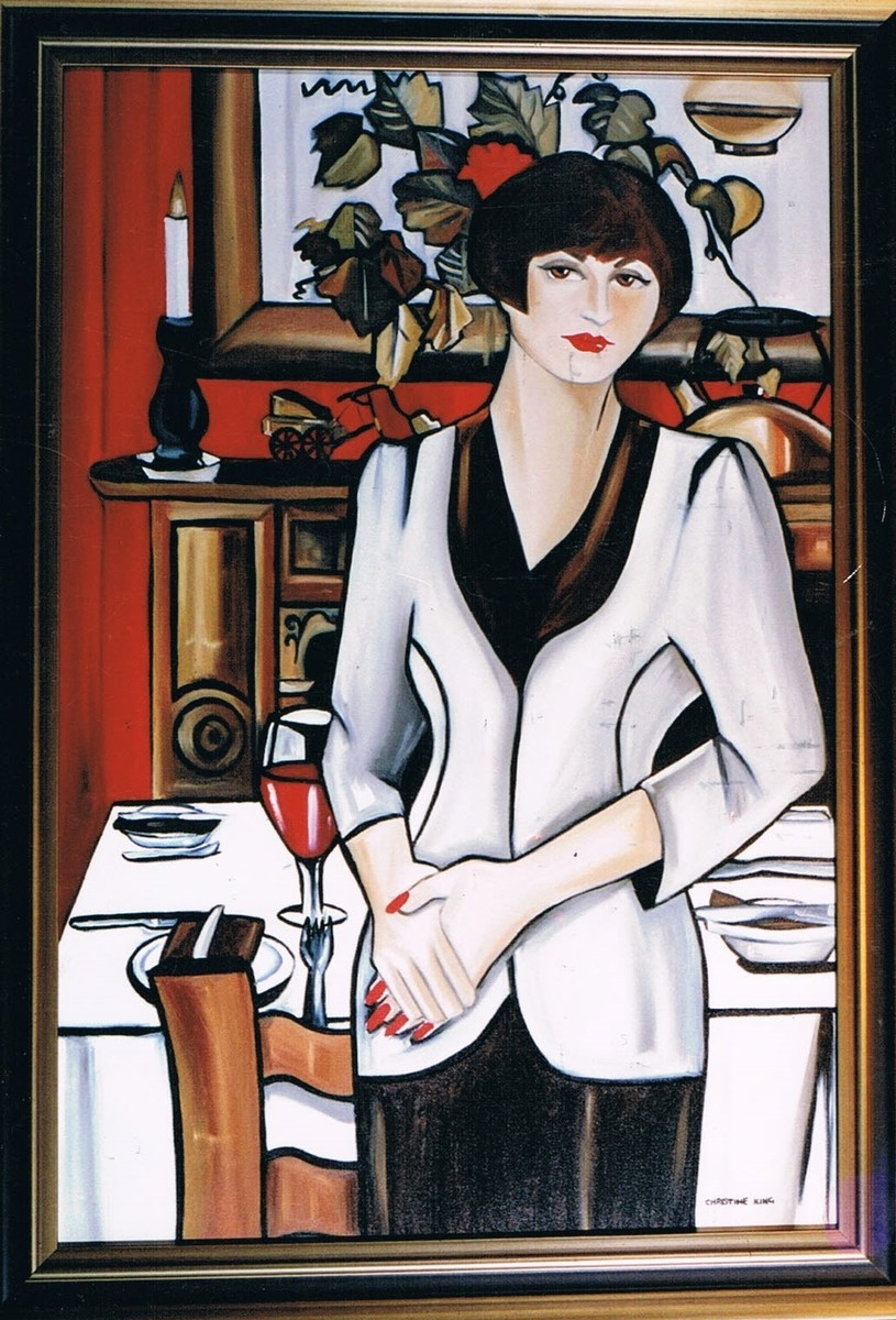 Lady in Restaurant Website
